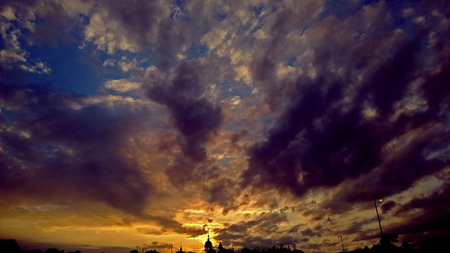 blue sunset sky orange church clouds digital evening bath maine calm smalltown nokia1020