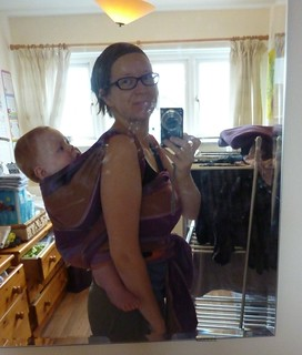 Double Hammock back carry with Girasol jungle wrap!