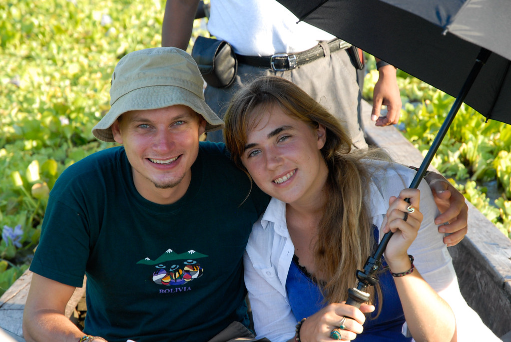 A couple during an Amazon jungle tour