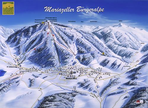 Mariazell - mapa sjezdovek