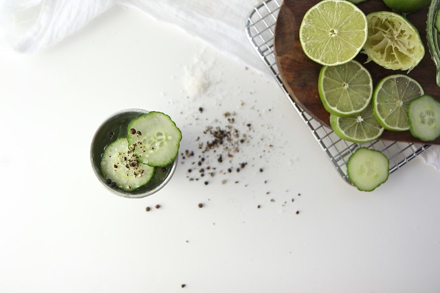 Cucumber Gin Salt and Pepper Cups