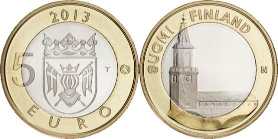 *5 Euro Fínsko 2013, Proper - katedrála v Turku