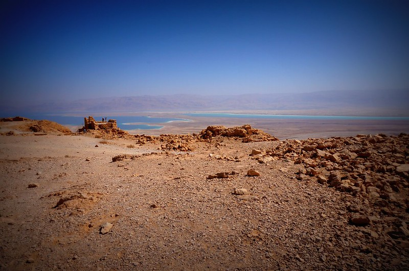 The view of the Dead Sea as seen from Masada.