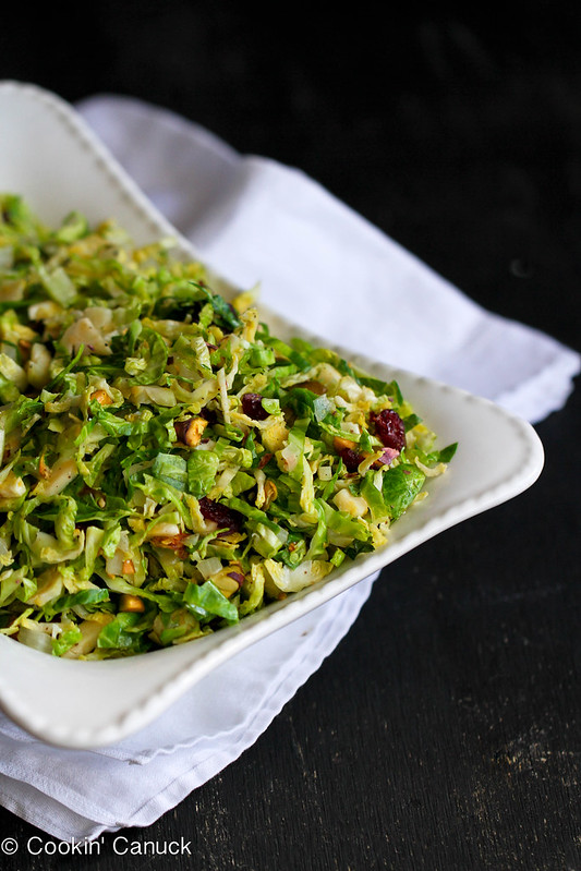 Shredded Brussels Sprouts Recipe with Pistachios, Cranberries ...