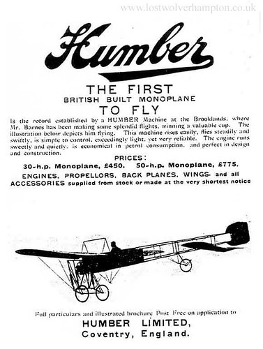 HumberThe First British Monoplane to fly.