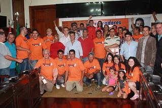 Ao final do evento, solidariedade entre os participantes e a certeza do fortalecimento de nossa Legenda em São Carlos e Região