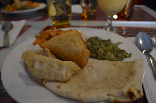 delicious food at Guru's Nepal restaurant, Montrose, CO