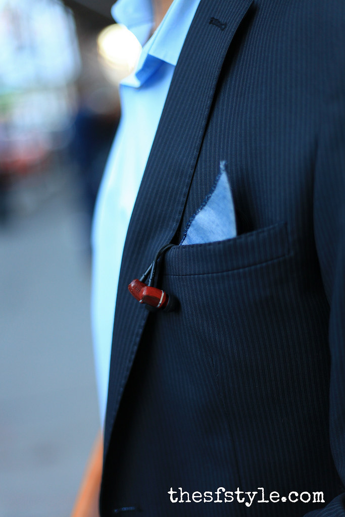 zara men's suit, LSTN cherrywood earbuds headphones, new york streetstyle fashion blog,