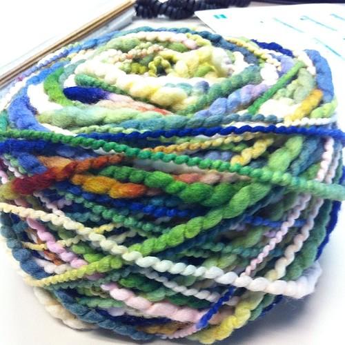 Look!  A yarn cake! #ballwinder