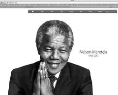 Nelson Mandela on Apple Website