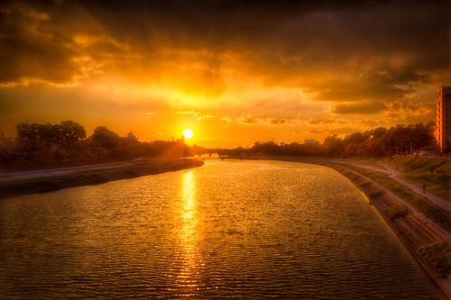 sunset sky sun fav20 fav30 太陽 空 otogawa 日没 fav10 otoriver 乙川