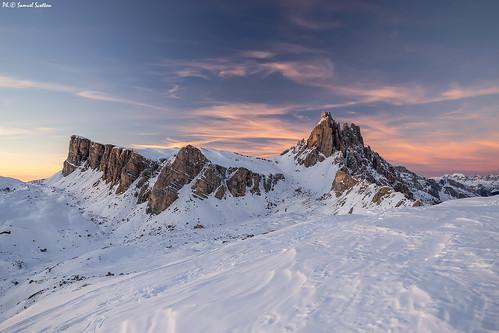 Lastoni di Formin e Croda da Lago al tramonto da Col Duro by -samuel-