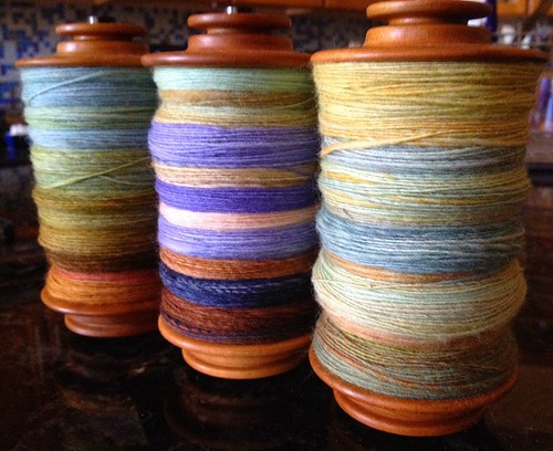 Bobbins for plying