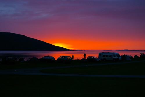 camping sunset scotland highland ullapool lochbroom