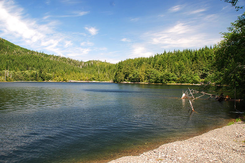 Frederick Lake near Bamfield, West Coast Vancouver Island, British Columbia
