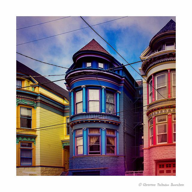 Psychedelic blues c 39 est une maison bleue adoss e la for Adresse de la maison bleue san francisco
