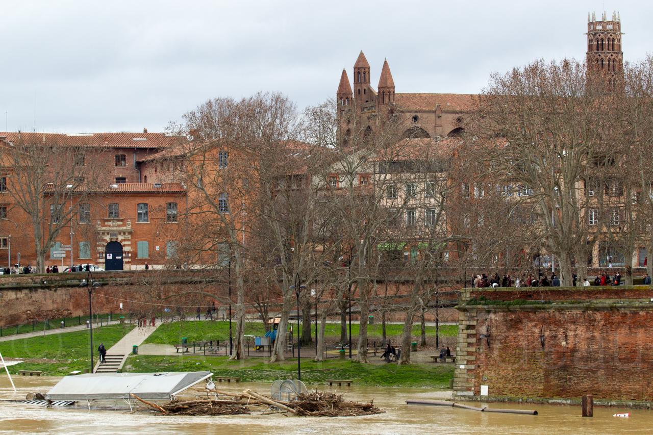 la Garonne en crue, 25 et 26 janvier 2014, Toulouse 12156691913_dedc786d1c_o
