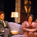 The Mousetrap - Pictured: Thadd Krueger (Christopher Wren), Kathleen M. Brady (Mrs. Boyle) and Megan Van De Hey (Miss Casewell) Photo P. Switzer Photography 2014