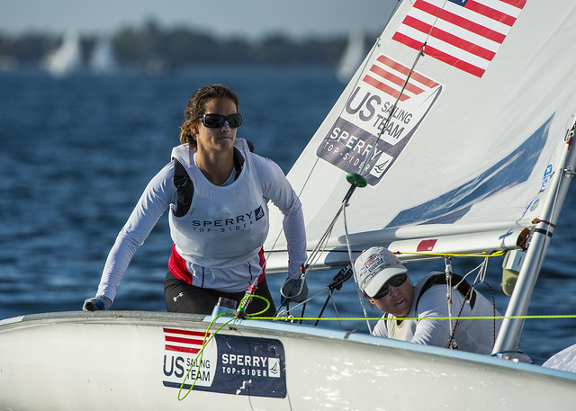 Annie Haeger & Briana Provancha (USA) - 2014 ISAF Sailing World Cup Miami