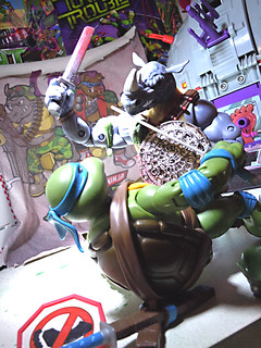 TEENAGE MUTANT NINJA TURTLES - CLASSIC COLLECTION :: ROCKSTEADY & BEBOP { tOkKustom Punk touch-ups } xxiv //  ..en gar'DUH  (( 2013 ))