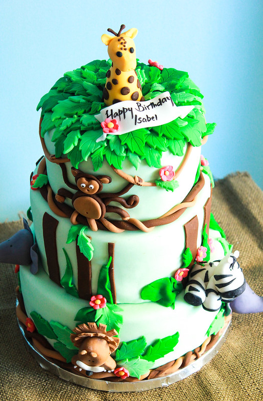Birthday Cake Ideas Jungle Theme : Ria s Collection: SAFARI THEMED BIRTHDAY CAKE