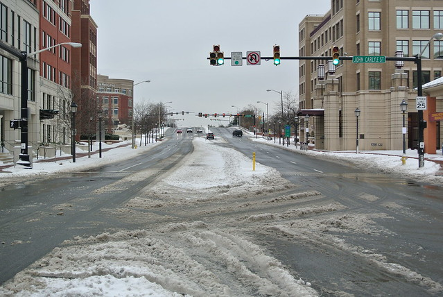 Winter Storm Titan - Carlyle/Eisenhower East area of Alexandria, Virginia