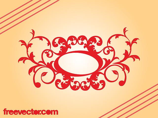 Retro Decorative Floral Scroll fresh best free vector packs kits