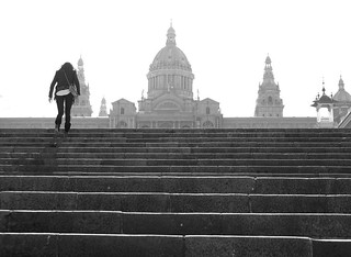 steps and girl ...