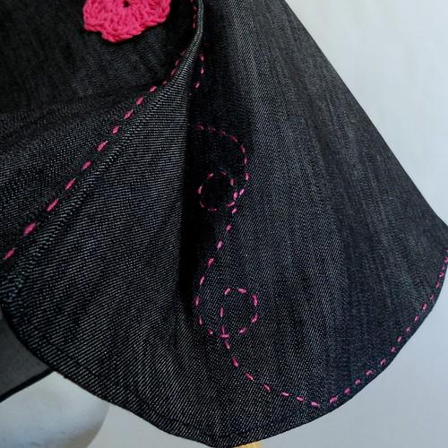 bordado falda vaquera flores