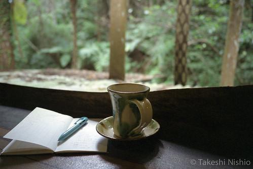 コーヒーを飲みつつ撮影メモ / recording photograph memo
