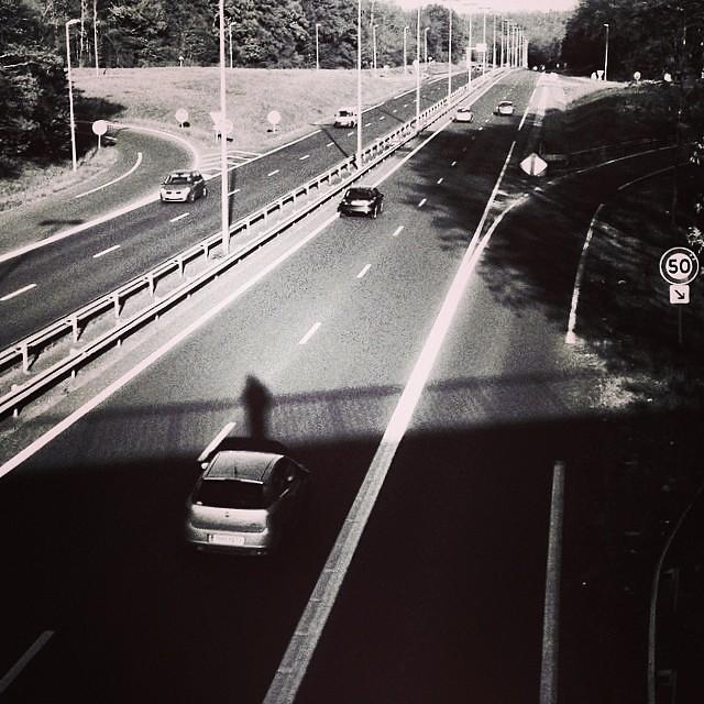 A Man on the bridge!