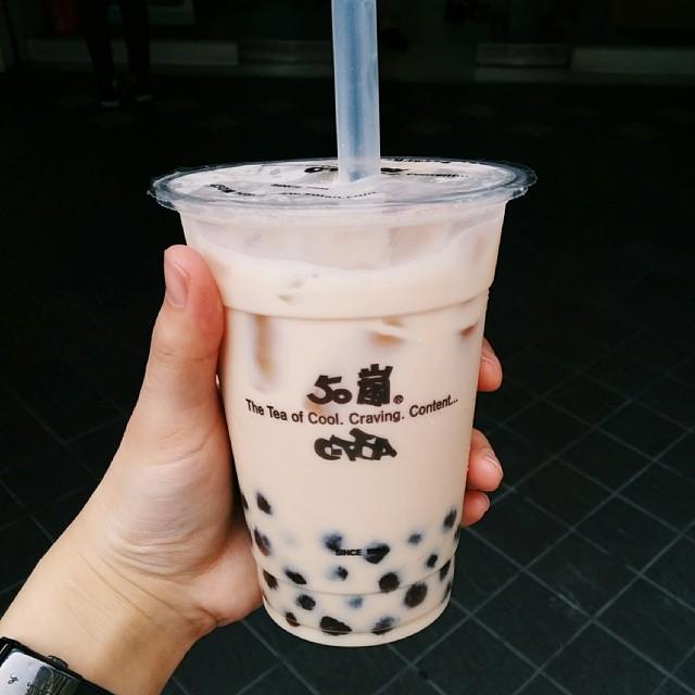 first bubble tea #taiwan #taipei #bubbletea
