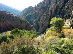 Départ du canyon du Dardu dans E Calanche