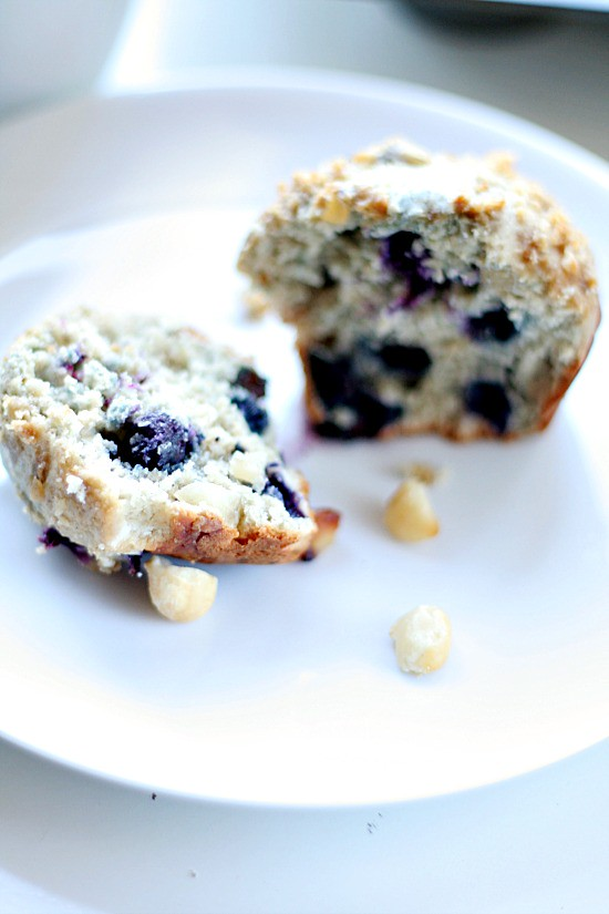 Blueberry Macadamia Muffins - eating well diet | heathersfrenchpress.com