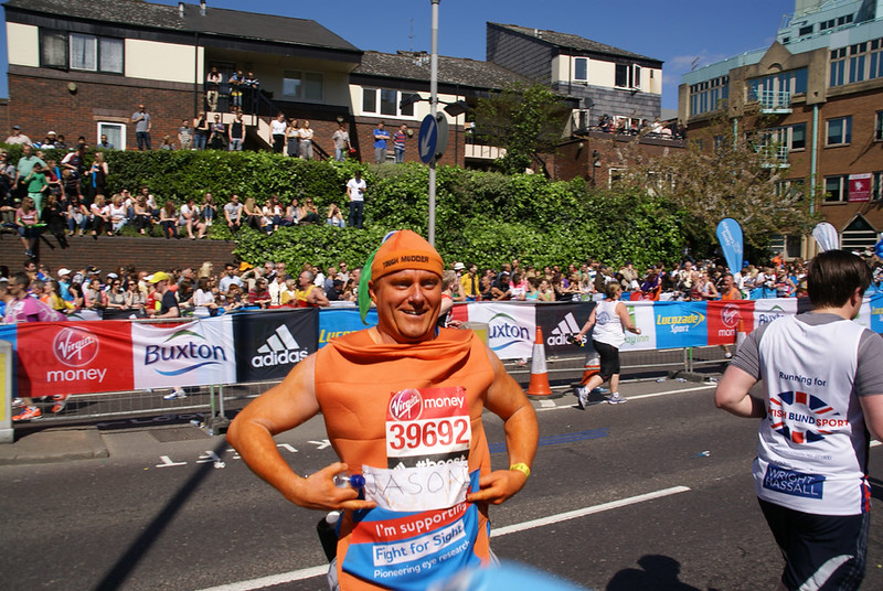 Jason Fight For Sight Carrot 2014 London Marathon