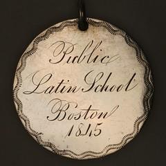 Public latin School medal obverse