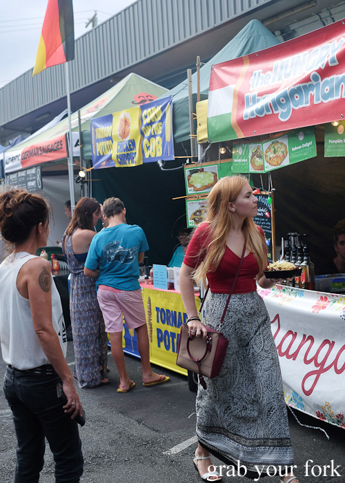 Food stalls at Miami Marketta Street Food Market on the Gold Coast
