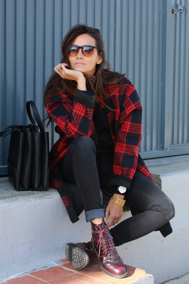 plaid coat coohuco 1