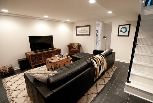 mark and sally s modern basement makeover diy del ray rh diydelray com Basment Make Over Bathroom Make Over