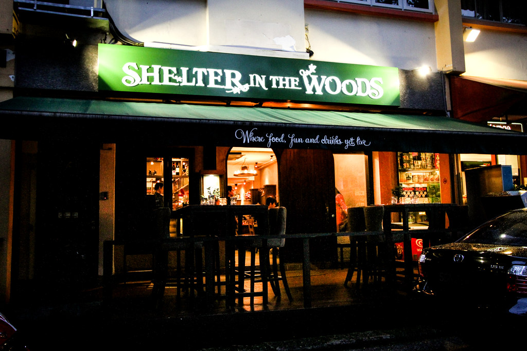 Shelter in the Woods Sign