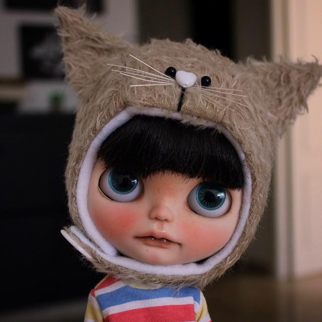 Miauuuuuu!!! I´m a cat!!!  New Animal Hats this afternoon in my corner ❤️❤️❤️❤️ Miauuu!! Soy un gato!!  Nuevos gorros de animales esta tarde a las 5pm en mi rinconcito.