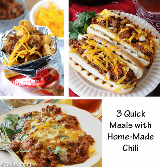 3 Quick Meals with Chili --  some easy ideas for using leftover chili