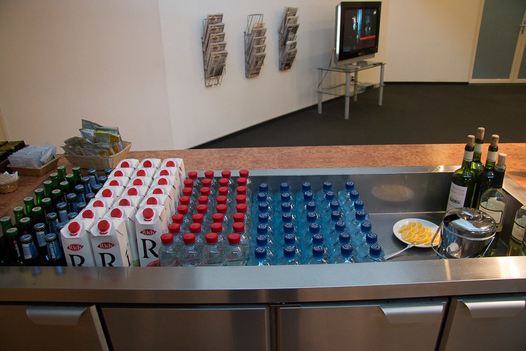 Snacks and Beverage area at Pulkovo Business Class Lounge