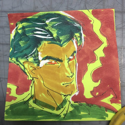 Post-it note color sketches