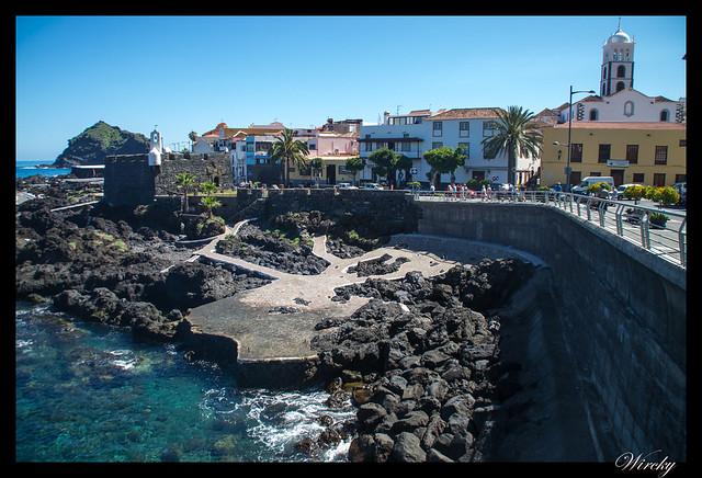 Tenerife Icod Vinos Garachico Punta Teno - El Caletón, castillo de San Miguel e iglesia matriz de Santa Ana
