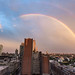 Double Rainbow Sunset over Brooklyn by jqpubliq