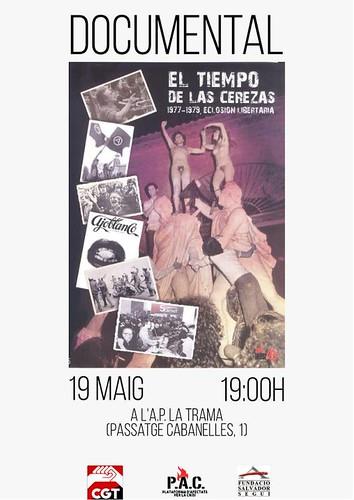 Projecció 'El tiempo de las cerezas' a Mataró