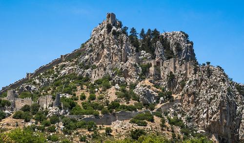 castle saint landscape cyprus landschaft zypern girne kyrenia hilarion