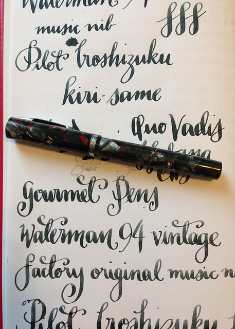 Waterman 94 + Factory Original Music Nib Writing Sample