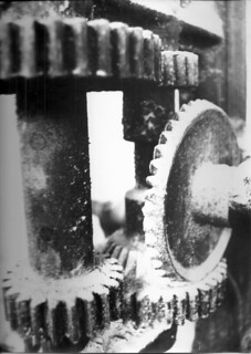 gears 1982 canon A1 bw film